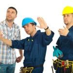 Tradesmen Advising Client